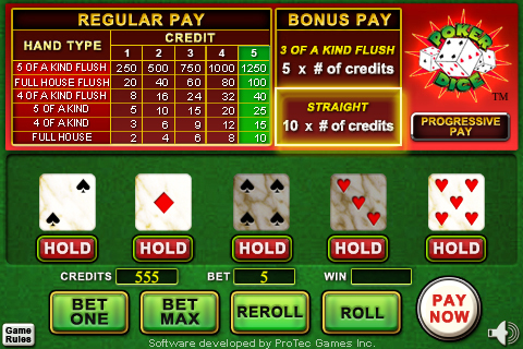 Screenshot Poker Dice I